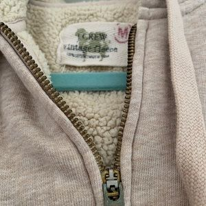 J. Crew Sweaters - J Crew Vintage Fleece Zip Up Hoodie Medium